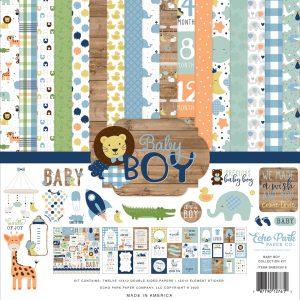 BAB203016 zestaw papierów Baby Boy Echo Park