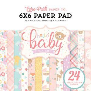 BG171023 zestaw papierów Hello Baby Girl Echo Park