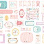 elementy ozdobne Hello Baby Girl Echo Park