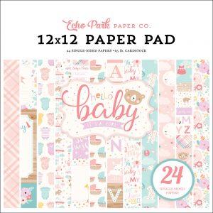 BG171030 zestaw papierów Hello Baby Girl Echo Park