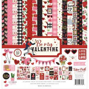 BMV197016 zestaw papierów Be my Valentine Echo Park