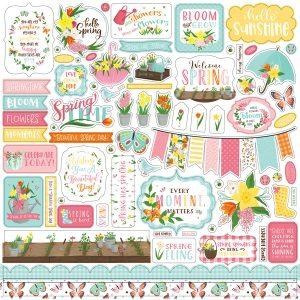 LSP204014 naklejki I Love Spring Echo Park