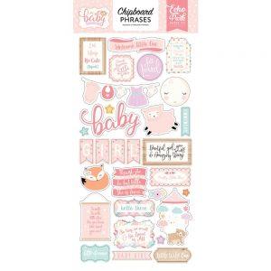 OBG171022 naklejki Hello Baby Girl Echo Park