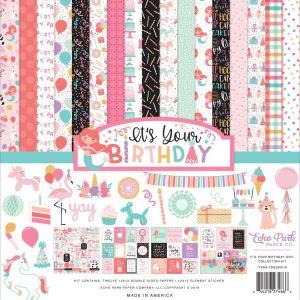 YBG201016 zestaw papierów It's Your Birthday Girl Echo Park