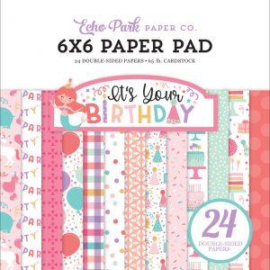 YBG201023zestaw papierów It's Your Birthday Girl Echo Park