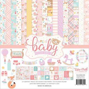 BG171016 zestaw papierów Hello Baby Girl Echo Park