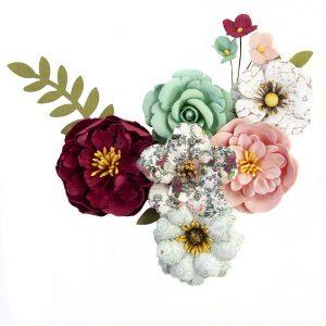 646905 zestaw papierowych kwiatów Prima Marketing z kolekcji Pretty Mosaic