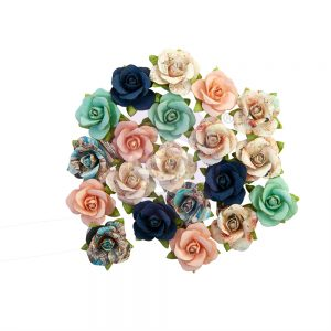 647087 zestaw papierowych kwiatów Prima Marketing z kolekcji Capri
