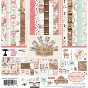 CBFAR113016 zestaw papierów Farmhouse Market Carta Bella