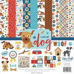 LMD198016 zestaw papierów I Love My Dog Echo Park