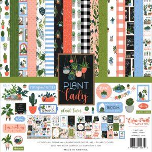 PLA211016 zestaw papierów Plant Lady Echo Park