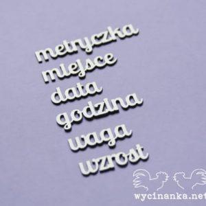 E0A3-17658 tekturka Wycinanka