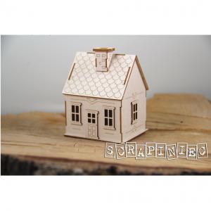 5535 tekturka 3D w kształcie domku Scrapiniec