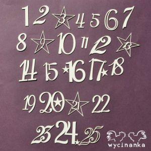 83F7-29406 tekturka w kształcie cyfr Wycinanka