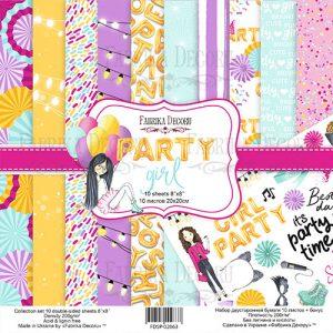 FDSP-02063 zestaw papierów Party Girl Fabrika Decoru