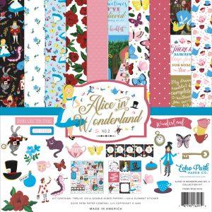 WO214023 zestaw papierów Alice In Wonderland Echo Park