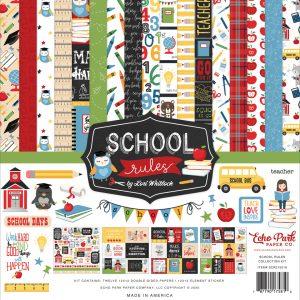"SCR215016 zestaw papierów ""School Rules"" echo Park"
