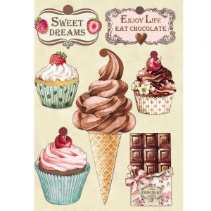KLSP078 elementy drewniane Stamperia Sweety