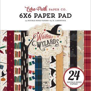 WAW217023 zestaww papierów 15x15 cm Echo Park Witches Wizzards