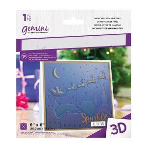 GEM-EF6-3D-NB folder do embossingu Crafters Companion