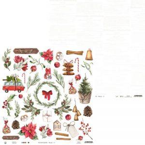 P13-WIN-07 papier The Four Seasons, Winter P13