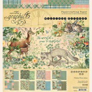 4502134 zestaw papierów 8x8 Woodland Friends Graphic45