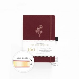GE309 notes w kropki A5 Rose Gold With Gold Edges Dot Grid Notebook