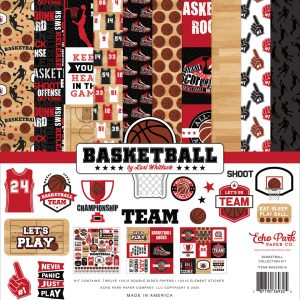 BAS229016 zestaw papierów Basketball Echo Park