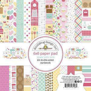7126 zestaw papierów Made with love Doodlebug