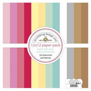 7129 zestaw papierów Made with love Doodlebug