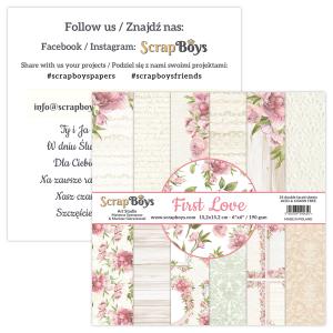 FILO-09 zestaw papierów First Love Scrapb Boys
