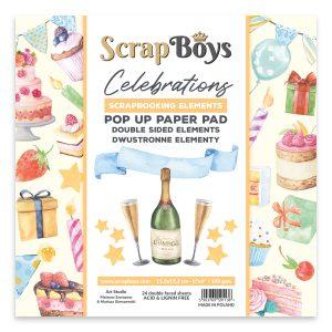 POPCE-01 zestaw papierów Scrap Boys